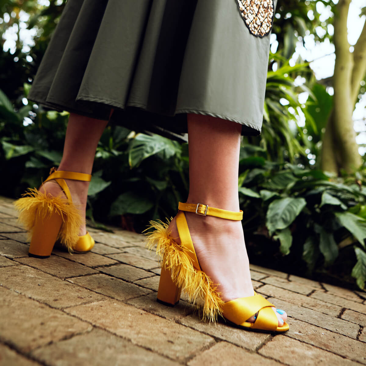 Plumes Sandals - Giallo