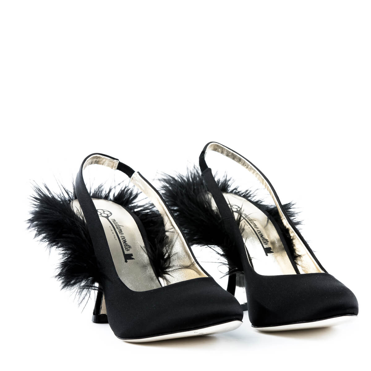 Plumes Slingback Pumps - Black