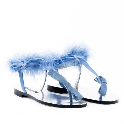 Plumes Capri Sandals LightBlue