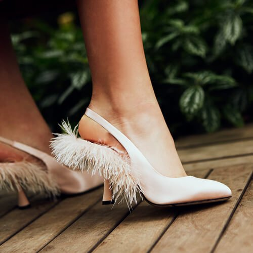 Plumes Slingback Pumps Pink