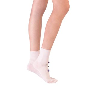 Jeweled Ankle Socks - Rosa