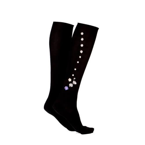 Jeweled Knee Socks Black
