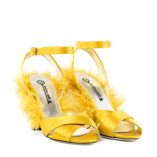 Plumes Sandals Yellow