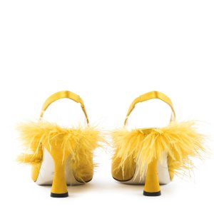 Plumes Slingback Pumps - Yellow