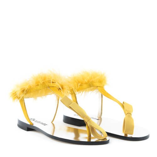 Plumes Capri Sandals Yellow